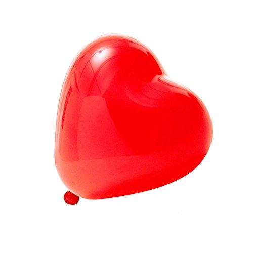 logei® Globos del corazón del amor 100pc globos de corazón globos de corazón decoración con globos para el día, contrato, boda de San Valentín (rojo)