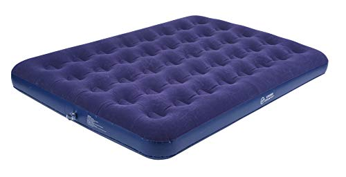 Cross Country Double Size Flocked Coil Beam Camping Mattress and Guest Air...