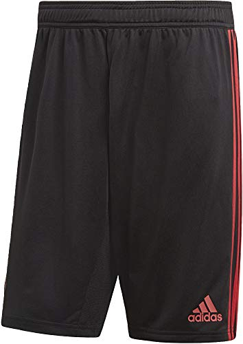 adidas Herren Manchester United FC Training Short 1/4, Black/Blaze Red/Core Pink, L