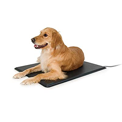K&H Pet Products Lectro-Kennel Outdoor Heated Pad with Free Cover Black Large 22.5 X 28.5 Inches