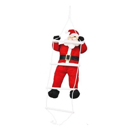 Viscio Trading Casa & Christmas Babbo Natale Impermeabile su Scala per Esterno, Tessuto, Bianco/Rosso, 0.13 x 0.13 x 0.15 cm