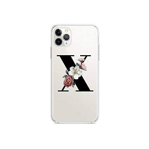Guess - Custodia per telefono con lettera iniziale personalizzata per iPhone 12 pro max 11 pro XS MAX 8 7 6 6S Plus X 5S SE 2020 XR cover-a19 per iPhone SE 2020