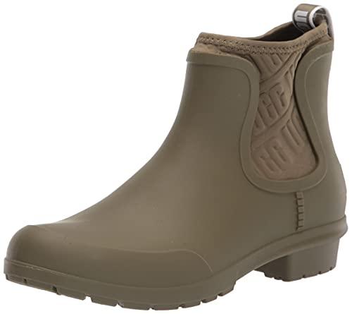 UGG Women's Chevonne Rain Boot, Olive, 9