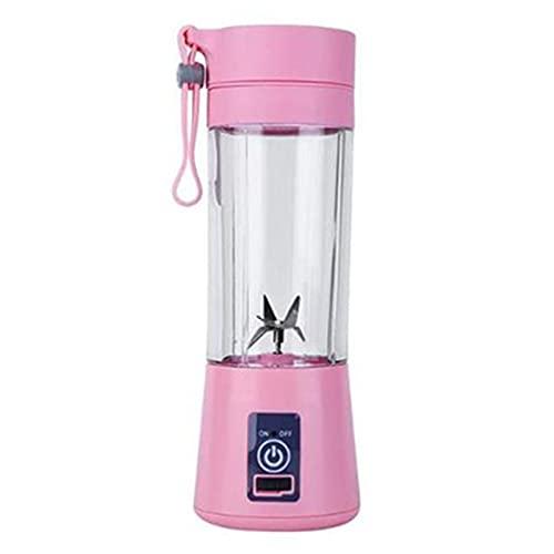 Exprimidor Portátil Blender Juicer MEZCLADOR USB EXCUSADOR ELECTRÁTICO Máquina de batidora Blender Procesador de alimentos Blender Taza de jugo licuadoras ( Color : Pink , Specification : 6 blades )
