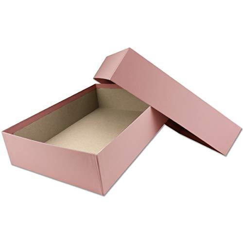 Hochwertige Aufbewahrungs- und Geschenkboxen - 1 Stück - DIN A4 - Altrosa bezogen - 302 x 213 x 70 mm
