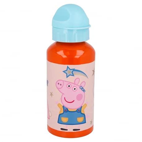 Borraccia termica Bottiglia in Alluminio per Bambini 400ml con beccuccio retraibile (Peppa Pig)