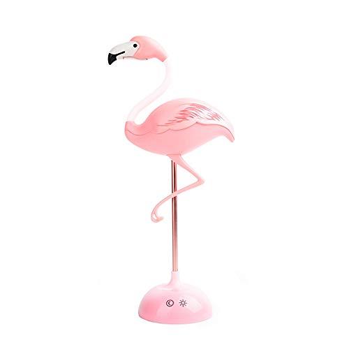 Lámpara de mesa LED con sensor táctil, interruptor regulable, lámpara de escritorio con flamenco, recargable, soporte para teléfono, regalo