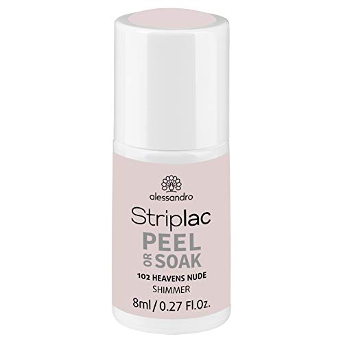 alessandro Striplac Peel or Soak Heavens Nude – LED-Nagellack in hellem Nude-Ton – Für perfekte Nägel in 15 Minuten – 1 x 8ml