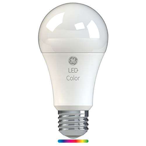 GE Lighting 93100205 LED+ Color A21 Light Bulb with Remote Control, Link up to 10 Units, 60-Watt Replacement, Full Spectrum