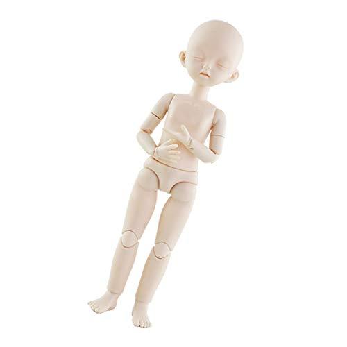 SM SunniMix 1/6 Nude Female Doll Body, 22 Gelenke 28cm Fexible Girl Doll Toys Für DIY Makeup Making Custimizing Accessories