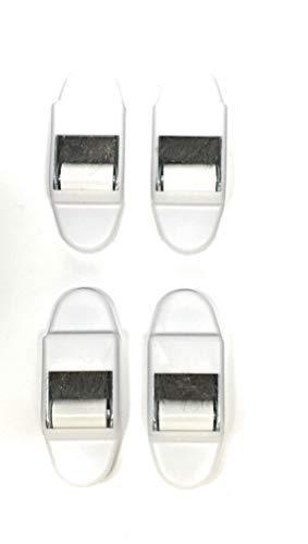 4 x Mini Gurtführung mit Bürstendichtung und Leitrolle