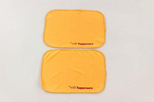TUPPERWARE FaserPro Durchblick orange (2) T18 Putztuch Brille Handy Brillenputztuch 30896