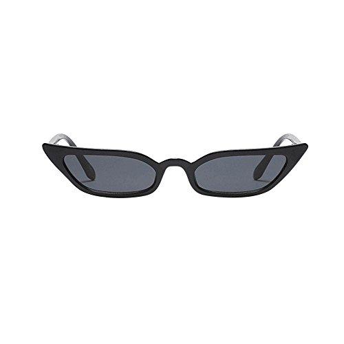 TWISFER Frauen Sonnenbrillen Frauen-Weinlese-Katzenaugen-Sonnenbrille-Retro- kleiner Rahmen Outdoor Eyewear arbeiten Damen-Gläser(Schwarz,One Size)