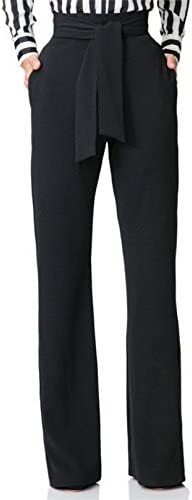 Women s High Waisted Pants Plain Slim Straight Wide Leg Pants Trousers with Belt product image