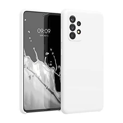 kwmobile Hülle kompatibel mit Samsung Galaxy A52 / A52 5G / A52s 5G - Hülle Silikon gummiert - Handyhülle - Handy Hülle in Weiß matt