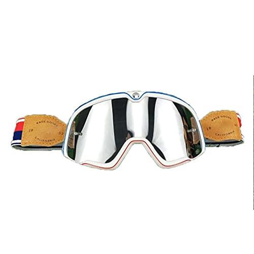 Gafas Moto,Moto Gafas Gafas de cuero Vintage Motocicleta Gafas Vintage Motocicleta Gafas Retro Jet Casco Vidrios Gafas Motocross (Color : Goggles 6)