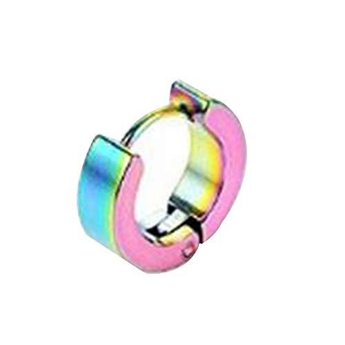 N/V titanio acero inoxidable oído anillo línea clásico cepillado líneas hebillas joyería hipoalergénica para hombres mujeres joyería regalo