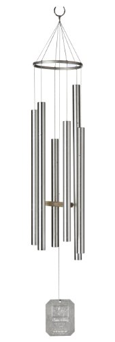 Grace Note Chimes 1S 36-Inch Earth Song Wind Chimes, Small, Silver