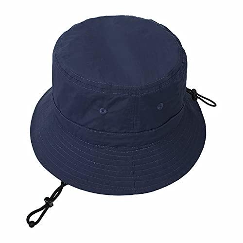 Sombrero de sol para mujer, protección UV, para playa, informal, con correa ajustable para la barbilla