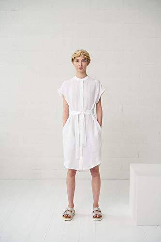 Amazon.com: White Linen Shirt Dress: Handmade