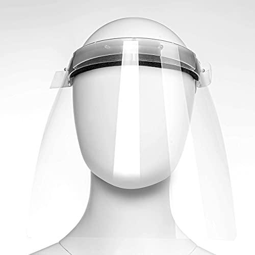 EVRIX® Premium Gesichtsvisier bestehend aus 1 Schild + 2 Ersatzfolien – Gesichtsschild für Mund, Nase und Augen – One Size