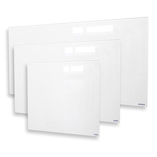 VASNER Citara Glas Infrarotheizung 650 Watt weiß 62 x 92 cm Wandmontage mit Bild 6*
