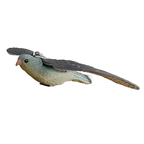 TEBI Decoración de jardín artificial falso pájaro señuelo vuelo halcón caza señuelo cebo