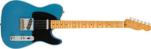 Fender Vintera Road Worn '50s Telecaster Electric Guitar, Maple Fingerboard, Lake Placid Blue