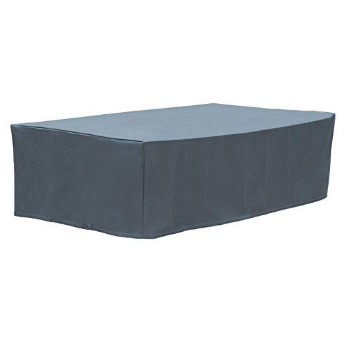 WOLTU GZ1161an Housse de Protection pour mobilier de Jardin 600D Oxford imperméable Couverture Meubles 70x200x160cm,Anthracite
