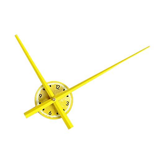 PETSOLA 12 Pulgadas De Acrílico Reloj De La Vendimia Kit De Reparación De Bricolaje Engranaje De Cuarzo Dial Reloj De Pared Piezas De Repuesto - Amarillo, Individual