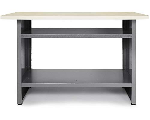 Ondis24 Werkbank 120 cm Thorsten Packtisch Werkstatteinrichtung Werkstatt Werktisch mit höhenverstellbaren Füßen