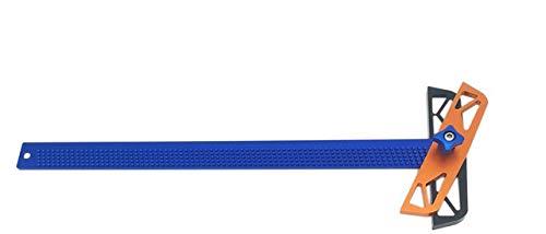 CarAngels 木工 自由角度スコヤ 直接マーキングできる定規 直角 自由角度 フリーアングル ゲージ 測定 高精度 1mm 穴間隔 アルミ製 大工ケガキ工具 (T400)