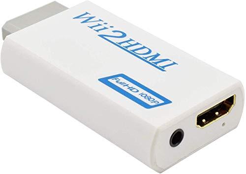 Conversor Wii a HDMI,Keyixing Wii a HDMI 720P 1080P HD 3,5 mm Audio adaptador soporta todos los modos de visualización de Wii
