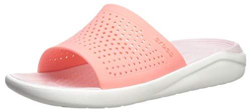 crocs Unisex-Erwachsene Literide Slide Dusch- & Badeschuhe, Pink (Melon/White 6kp), 42/43 EU