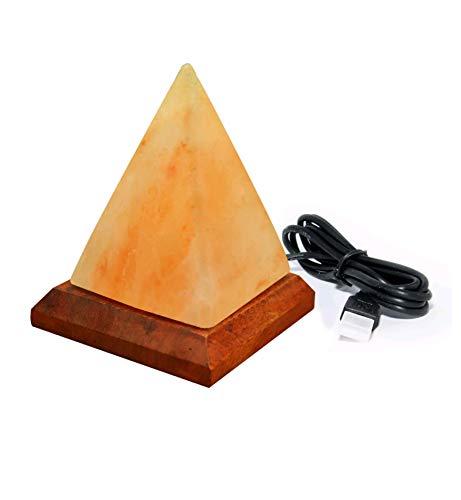 Natural HIMALAYAN SALT Pyramid Mini Crystal Rock Salt LAMP Natural Healing 100%...