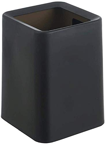 Bote de basura PP plástico bote de basura bote de basura bote de basura baño bote de basura cocina oficina en casa bote de basura,Black