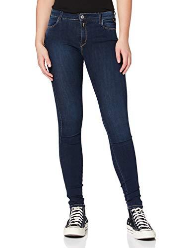 REPLAY Stella Vaqueros Skinny, Azul (Dark Blue 7), W23/L32 (Talla del Fabricante: 23) para Mujer