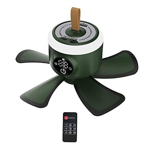 FSLLOVE FANGSHUILIN 8000 mAh. USB Wiederaufladbare Fernbedienung Timing Camping Lüfter 4 Getriebe Zelt Deckenventilator mit LED Lampe fit für Haus im Freien Bett