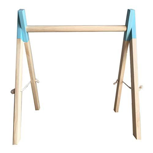 XINGYUE Baby Play Gimnasio de madera, Nordic Simple Madera Decoración de la habitación de los niños recién nacidos Bebé Fitness Rack Niños Sensorial Anillo-Pull Juguete