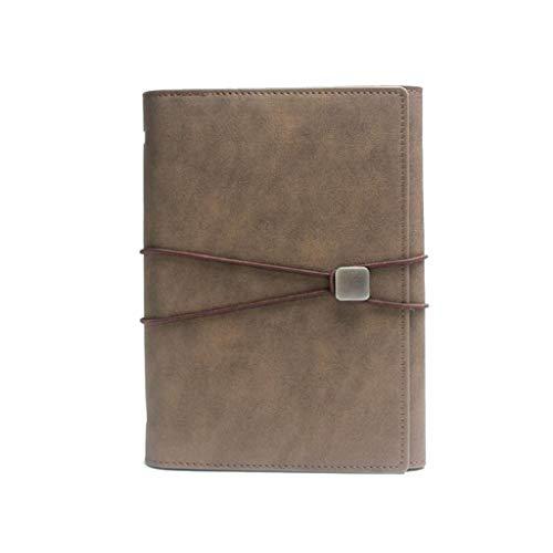 HGDCB notitieboek met scheidingswanden, drievoudig gevouwen losse bladen, notitieblok, uniseks, geschikt voor school en kantoor (A5)