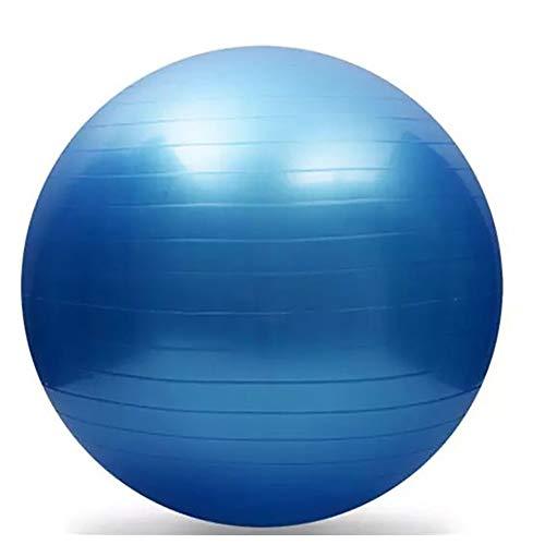SSZY - Pelota de gimnasia para niños y adultos, para principiantes, con bomba rápida para el hogar, la oficina, el gimnasio o, color azul, tamaño 55cm/27.1in