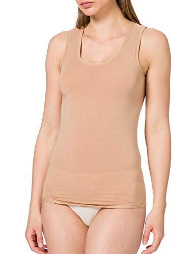 Schiesser Damen Personal Fit Tank Top Unterhemd, Beige, XL