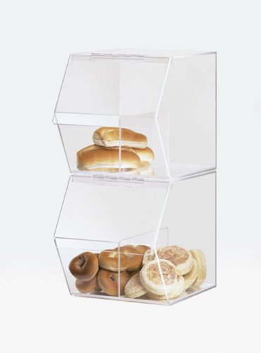 """Cal-Mil 992 Classic Stackable Acrylic Food Bin, 19.5"""" Length x 7.5"""" Width x 8"""" Height, Clear"""
