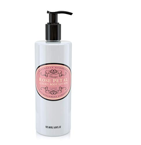 Naturally European Rose Petal Oil Rich & Nourishing Organic Full Body Lotion 500ml | Paraben Free Cleansing and Moisturising Natural Full Luxury Body Lotion