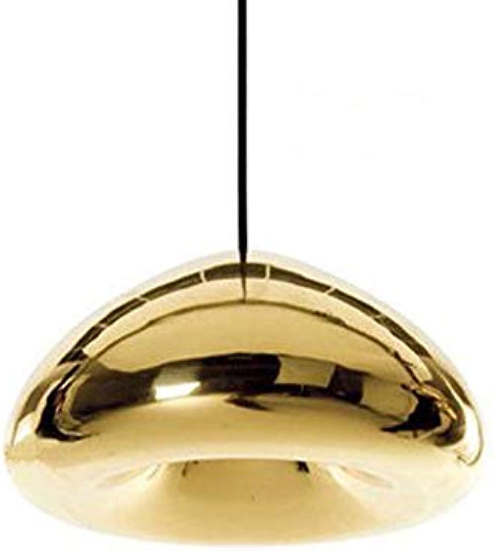 HOMECR Pendelleuchte Aus Galvanisiertem Glas Creative Home Kronleuchter Kreatives Restaurant Barlicht des Wohnzimmerschlafzimmers Gold-D18cm