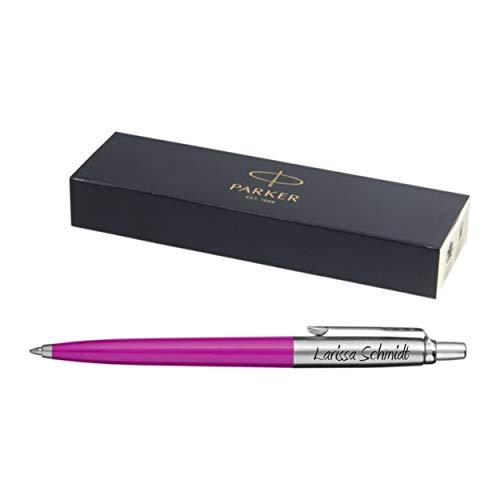 Exklusiver PARKER Kugelschreiber Modell JOTTER rosa inkl. Gravur Lasergravur graviert neu