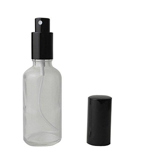 2PCS 50ml nachfüllbar transparent Glas Spray Parfüm Flasche leer Zerstäuber Flasche mit Schwarz Gap für Reisen Party-Make-up Werkzeug