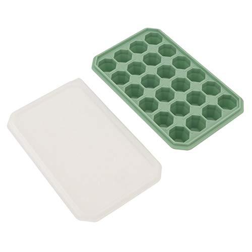 Molde de hielo Molde de congelación de 24 rejillas No tóxico para yogur para el hogar(Bamboo green)