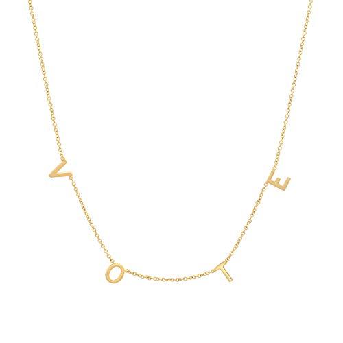 Michelle Obama Vote Necklace Gold Initial Vote Letter Necklace 2020