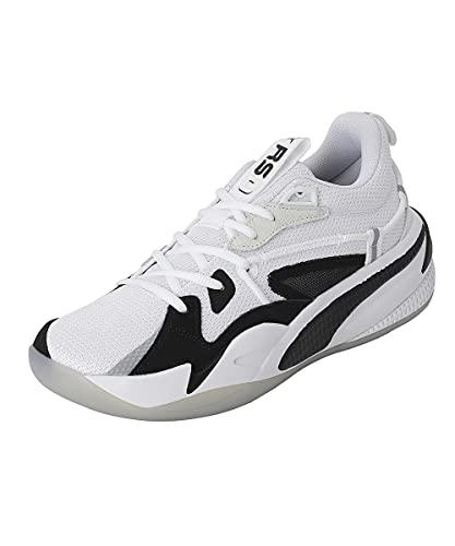 PUMA Unisex Active Basketball Shoes, White, 9 UK